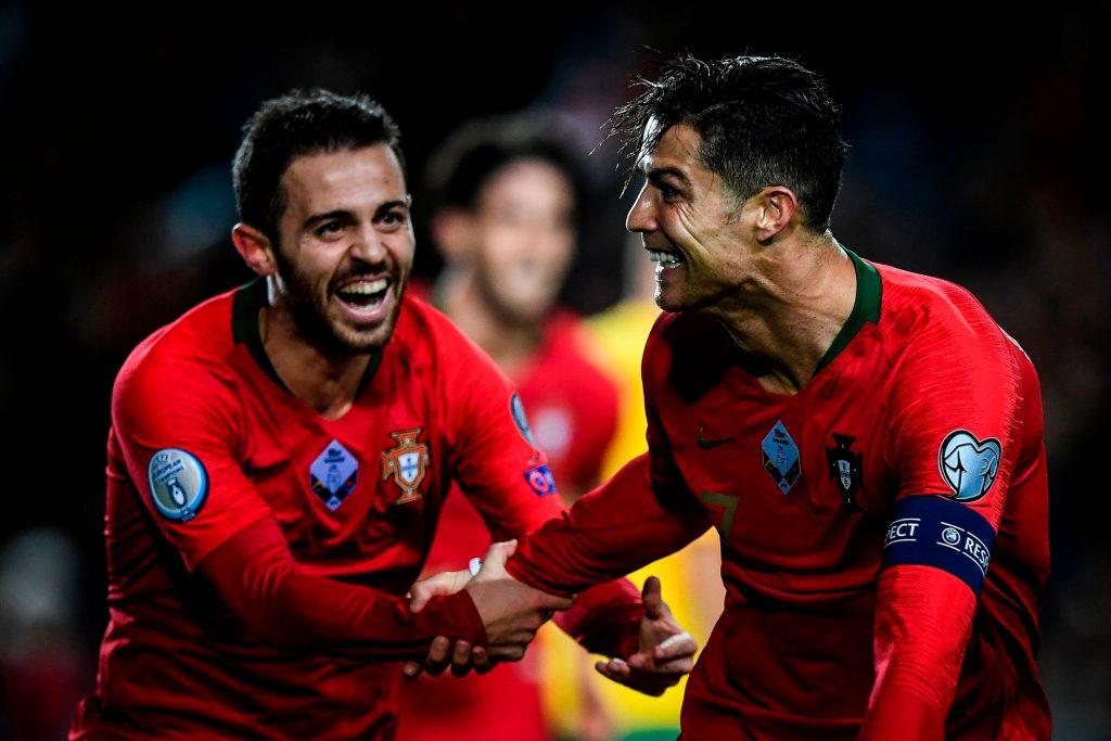 Bernardo Silva et Cristiano Ronaldo en sélection