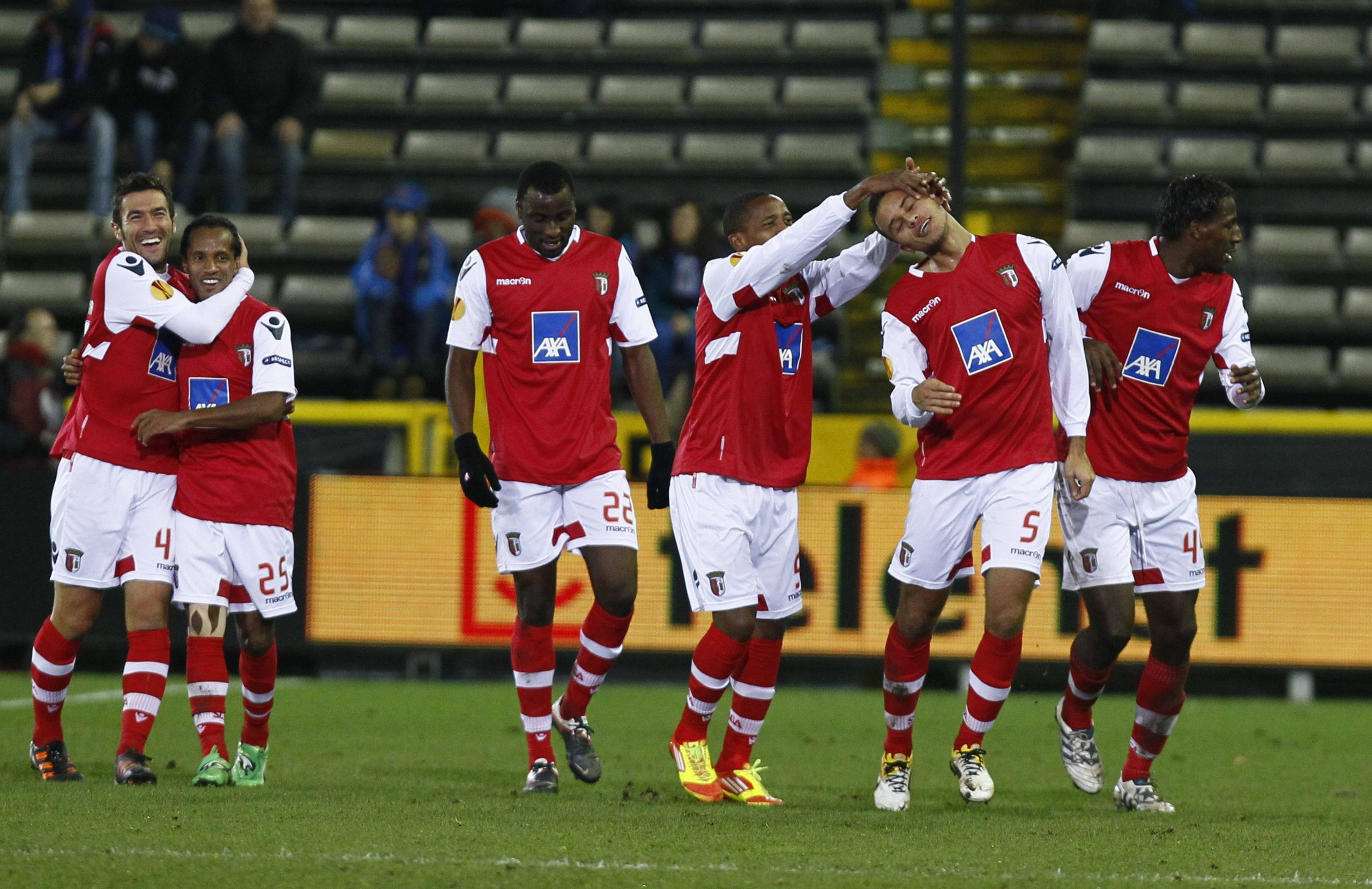 SC Braga face BRUGGE BELGIUM SC
