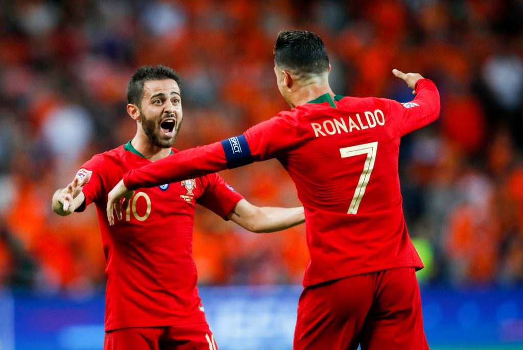 Bernardo Silva et Cristiano Ronaldo