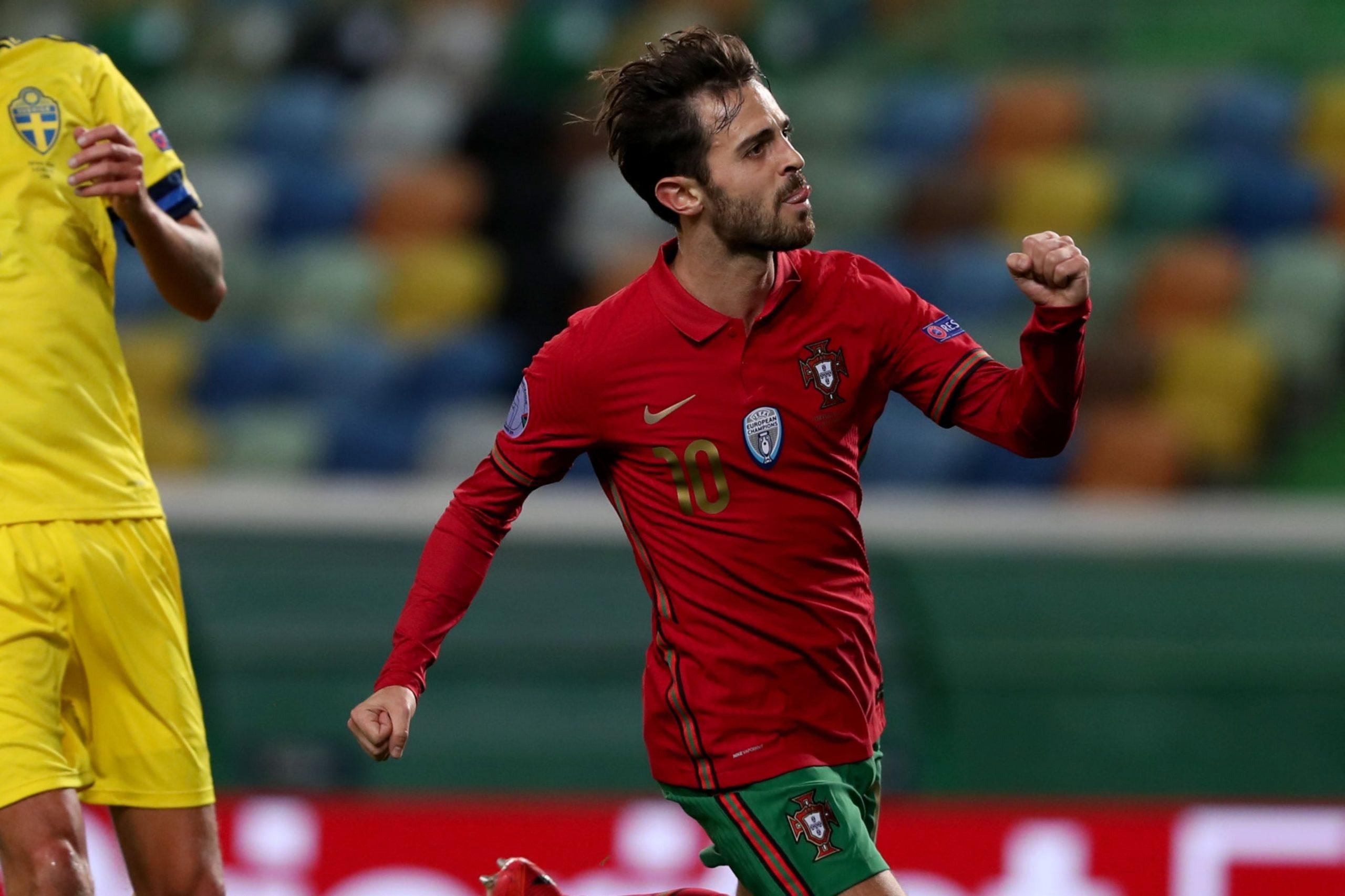 Bernardo Silva ouvre le score avec le Portugal face à la Suède !