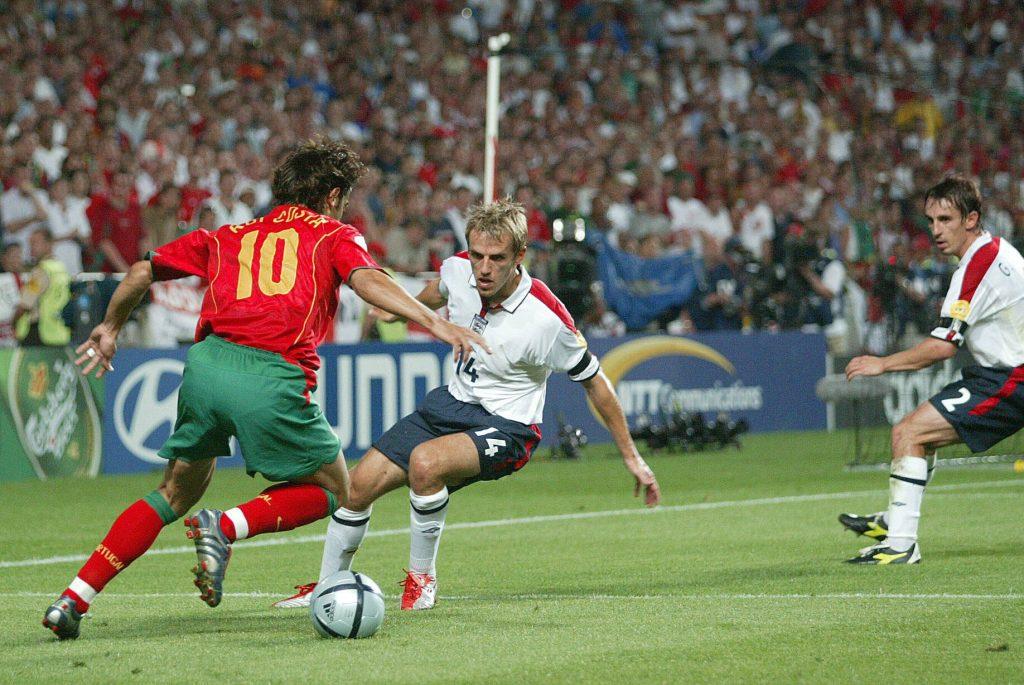 Rui Costa face à Phil Neville