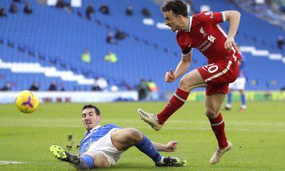 Diogo Jota marque face à Brighton and Hove Albion avec Liverpool
