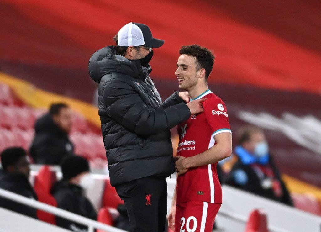Diogo Jota avec Liverpool