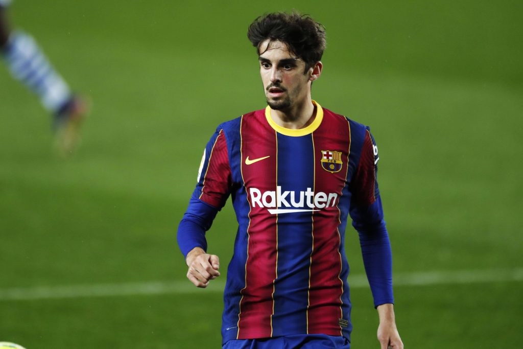 Francisco Trincao lors du FC Barcelone 2-1 Real Sociedad au Camp Nou