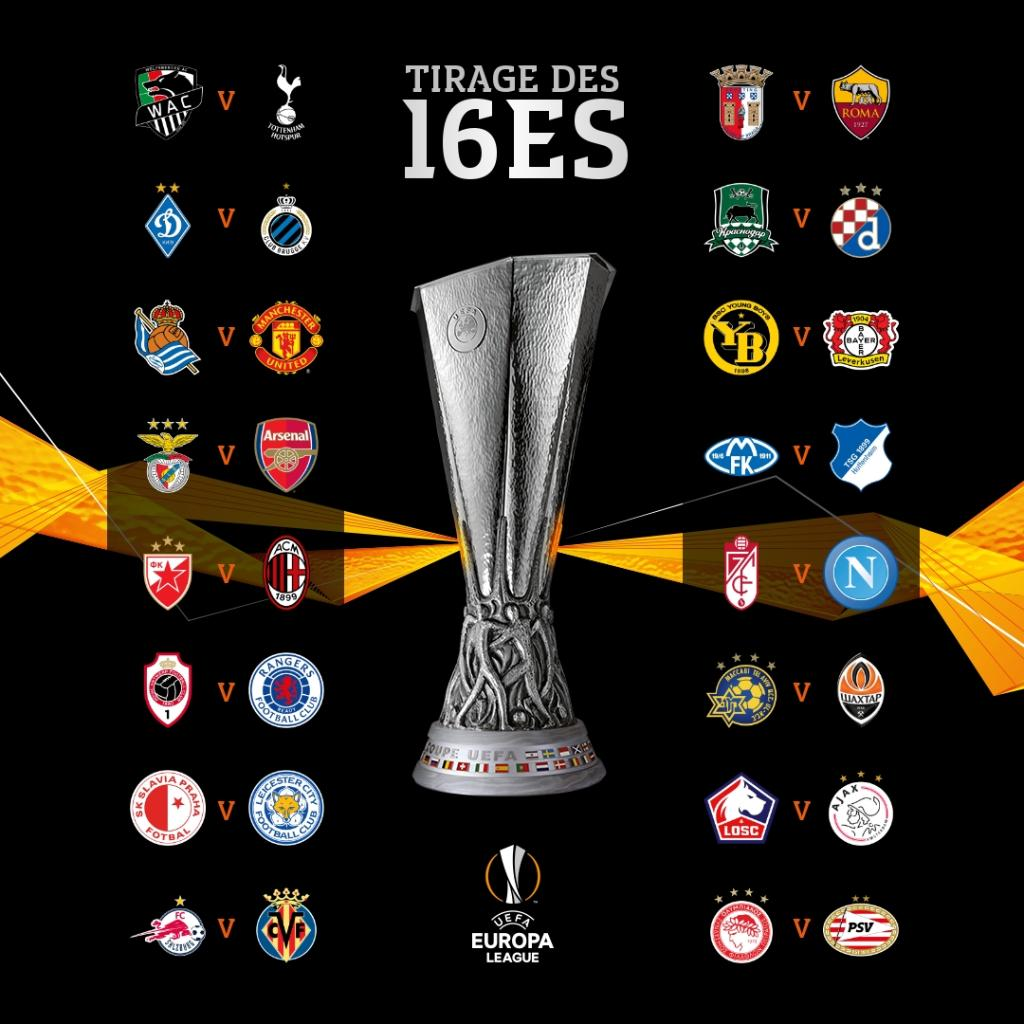 Europa League : Le SL Benfica affrontera Arsenal