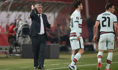 Portugal coach Fernando Santos football Serbia vs Portugal, FIFA World Cup, WM, Weltmeisterschaft, Fussball 2022 qualif