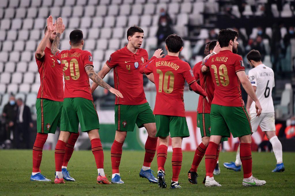 Euro 2021 à l'approche, la liste du Portugal. Les joueurs du Portugal lors d'un match de qualification.