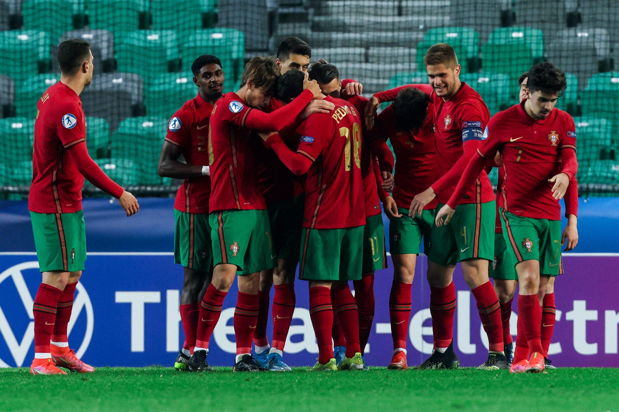 L'équipe du Portugal Espoirs pendant la phase de groupe