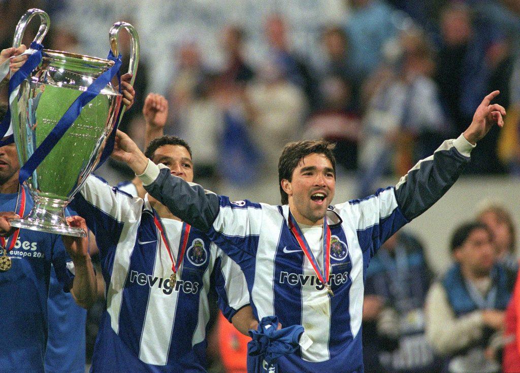 Deco et le FC Porto vainqueurs de la Ligue des Champions 2004