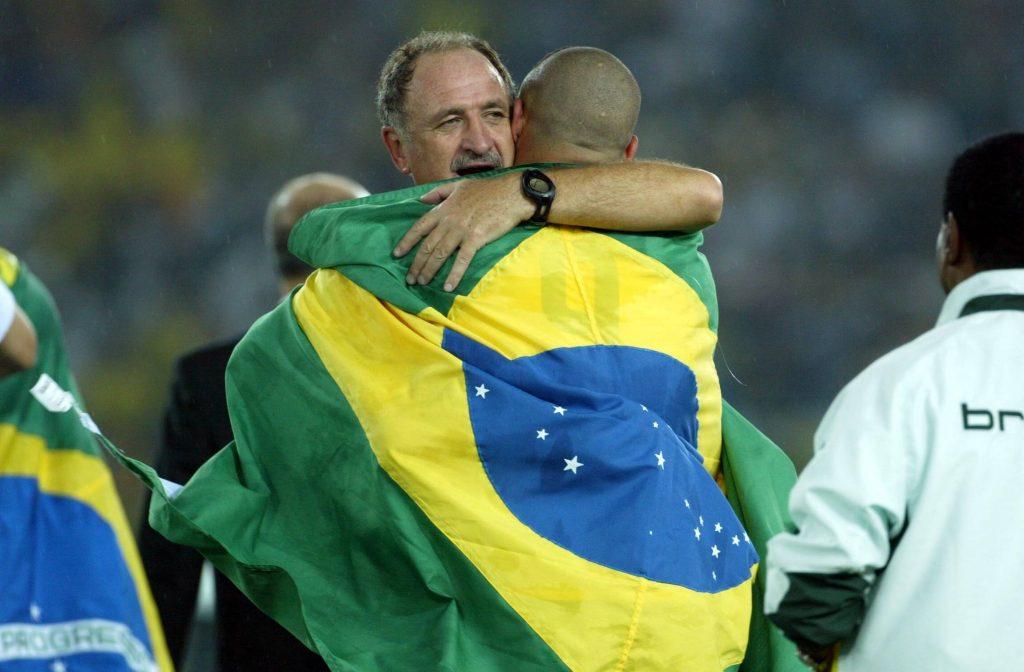 Luiz Felipe Scolari champion du monde avec le Brésil en 2002