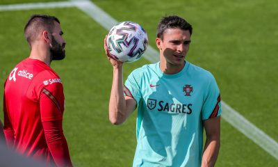 João Palhinha à l'entraînement du Portugal