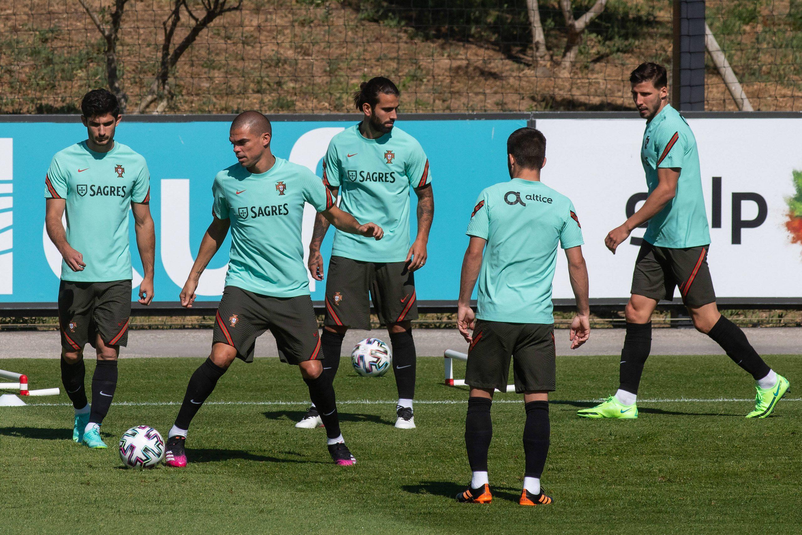 Le Portugal à l'entraînement