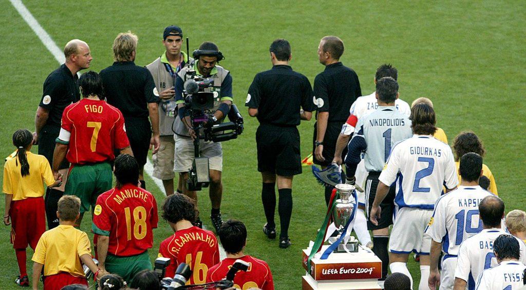 Entrée des joueurs lors de la finale de l'EURO 2004